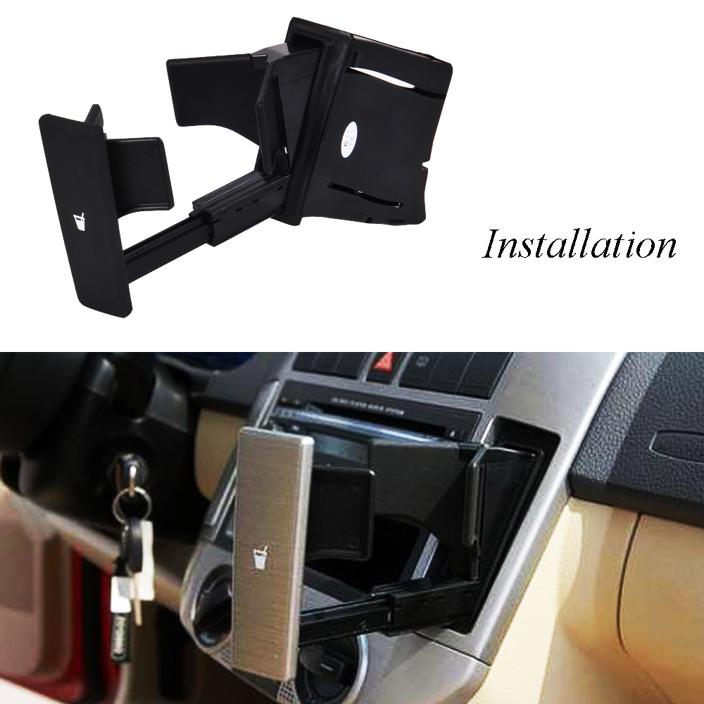 Black Cup Holder Dashboard Cup Holder 6Q0858602E For VW POLO 9N 2002-2010