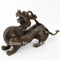 Pair of Brass Pi Yao Sculptures Fengshui For Wealth/pi xiu STATUES FIGURINE/Pi Xie