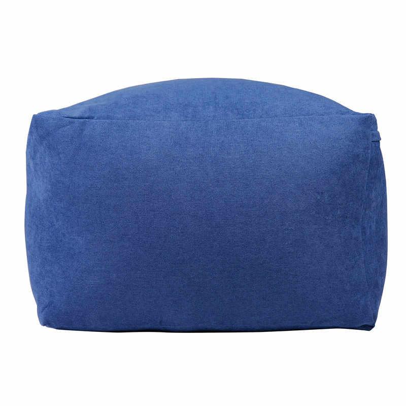Tampa Da Cadeira Do Sofá do Saco de feijão Pufe Puff Espreguiçadeira Velvet/Linho/Tecido de Lona Preguiçoso BeanBag Assento Do Sofá Sem Enchimento móveis Tatami