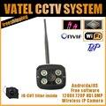 CCTV Câmera IP HD 1.0MP 720 P Wi-fi Câmera IP de Rede P2P Onvif Câmera De Segurança Wireless À Prova D' Água de Visão Noturna livre grátis