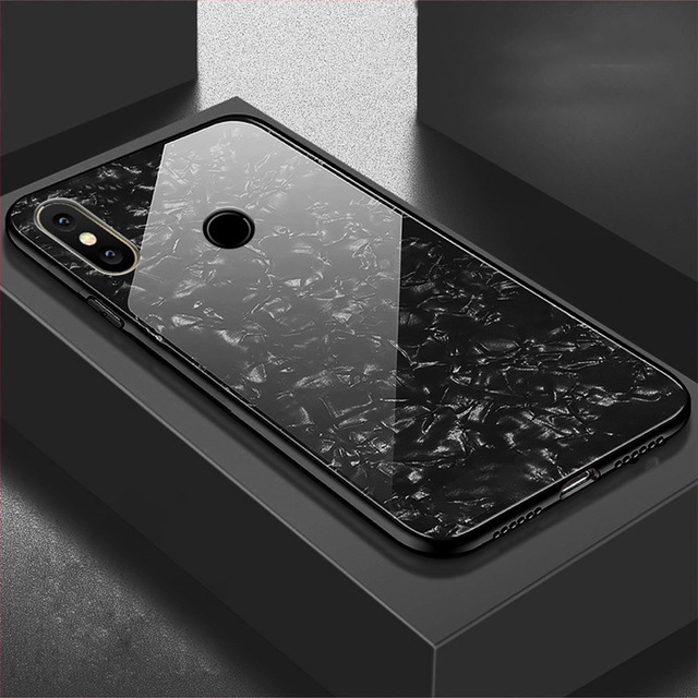 Bling-Shell-Tempered-Glass-Case-For-Xiaomi-Mi-8-SE-6-6X-5X-A1-Note-3