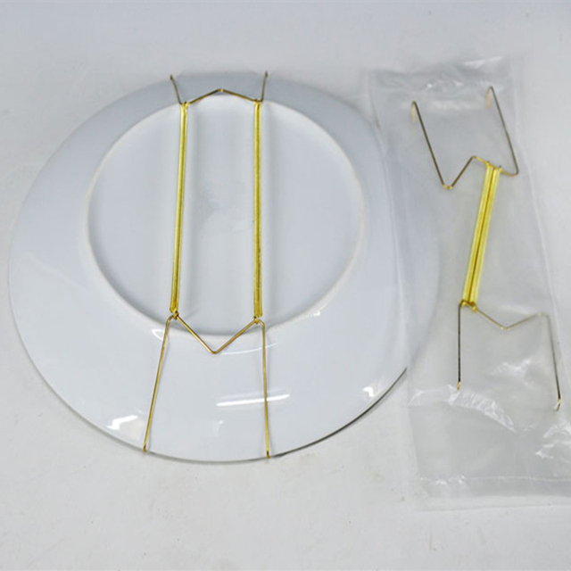 New 10pcs 12inch Golden Spring Plate Wire Hangers For Plates Display