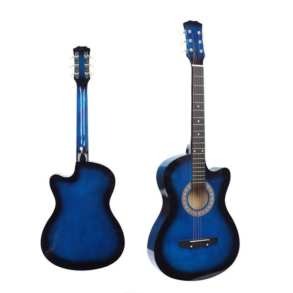 Folk guitar beginner student 38 inch wooden guitar novice self learning adult instruments music instrument tools WJ-JX7 30 34 36 inch novice guitar beginner folk guitar six chord little guitar