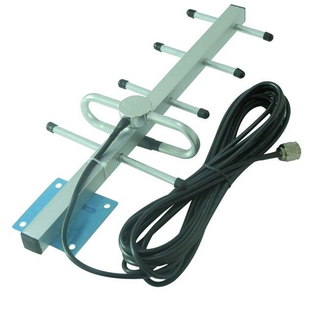 Yagi Antena Exterior GSM/CDMA 850/900 MHz + 10 metro Cable + N Conector macho para Celular Amplificador de Señal de teléfono Amplificador Envío gratis