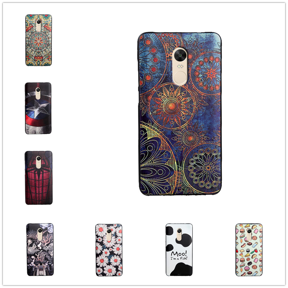 Xiaomi redmi note 4x case cover silicon 3d cases cartoon for 3d decoration for phone cases