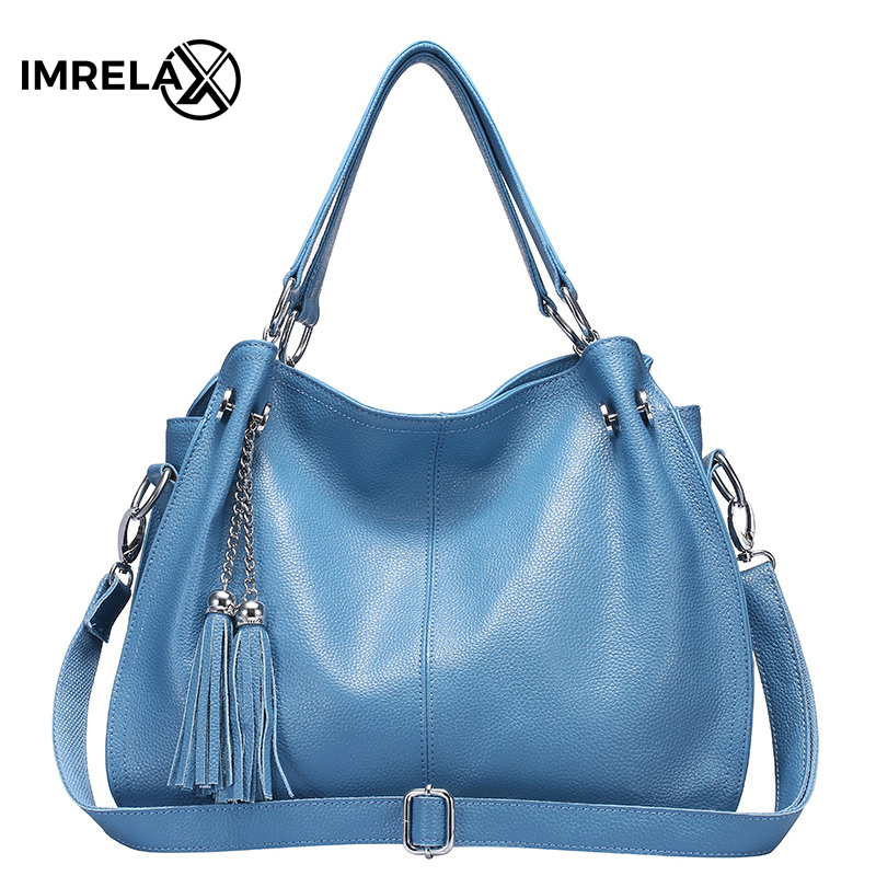 IMRELAX Top Quality Genuine Leather Women Shoulder Bags Real Cow Leather Women Handbags Crossbody Bags women bags genuine leather top quality real photos 21cm many colors women shoulder bag