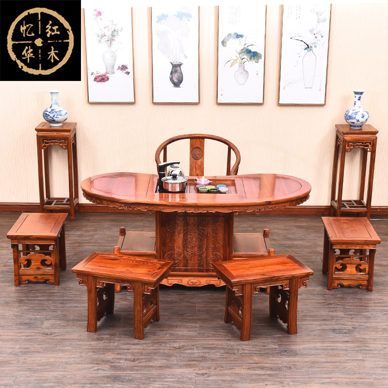 Cheap Tea Tables And Chairs Combination Of Antique Wood