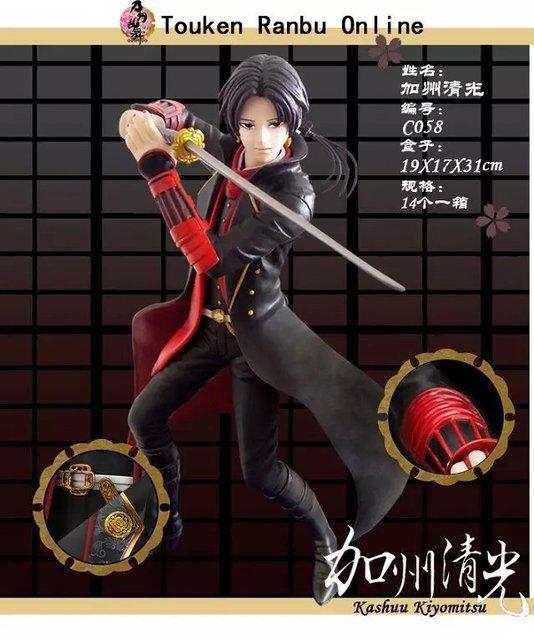19cm Touken Ranbu Online Kashuu Kiyomitsu Anime Collectible Action Figure PVC toys for christmas gift free shipping