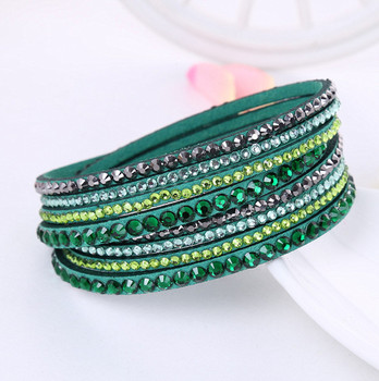 Crystal Multi-Layer Wrap Bracelets Bracelets Jewelry New Arrivals Women Jewelry Metal Color: green