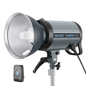 Neewer 600W GN82 Studio Flash Strobe Light Monolight with 2.4G Wireless Trigger and Modeling Lamp, Recycle in 0.01-1.2 Sec