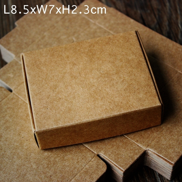 brown kraft paper box handmade diy soap business card gift party wedding boxes 85x7x2 - Kraft Paper Business Cards