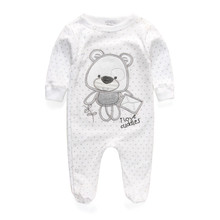 Ползунки продукта новорожденный младенческой девушка мальчик длинным детская рукавом одежда с