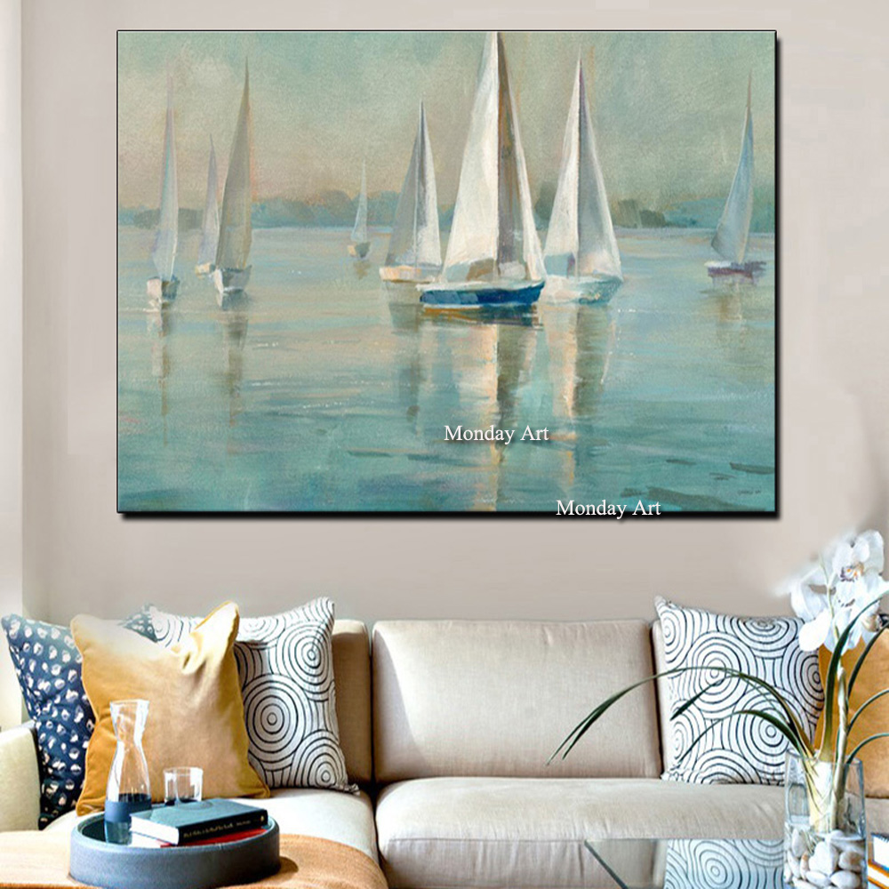 Drop-shipping-Modern-Wall-Art-Canvas-Seascape-Poster-Nordic-Wall-Picture-for-Living-Room-Boat-Sea (2)