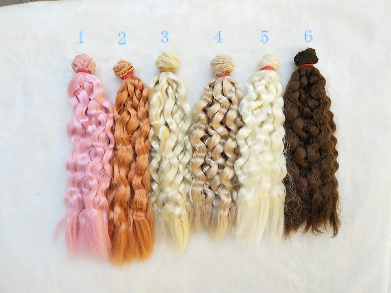 20cm*100CM imitation mohair Doll Wigs/hair for BJD/SD Uncle Blyth doll wigs DIY Fapai milk silk soft hairs doll accessories 20cm deep wavy doll wigs sd ad 1 3 1 4 1 6 bjd doll diy hair for blyth bjd handmade doll wigs