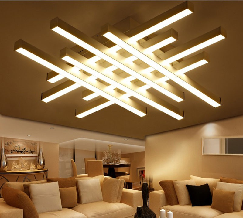 Commercial Ceiling Light Fixtures: Art Acrylic LED Ceiling Light Living Room Bedroom Study