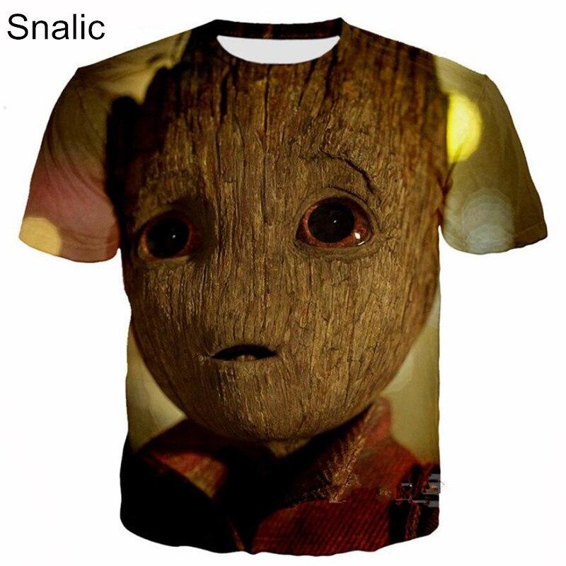 Snalic Fashion t-shirt Movie Guardians of the Galaxy Print 3D Cartoon Men Women T shirt Casual Hip Hop t shirt Tops Tee