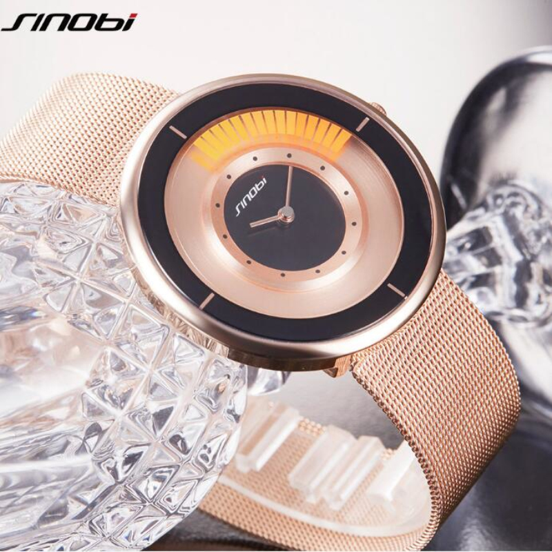 SINOBI Luxury Rose Gold Watch Women Watches Fashion Personality Women's Watches Clock relogio feminino montre femme reloj mujer guou watch luxury rhinestone diamond watch women watches fashion women s watches clock montre femme relogio feminino reloj mujer