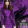 Wide 155cm 100cm Autumn Winter Purple Rose Color High Grade Yarn Dyed Jacquard Fabrics Printing Stretch