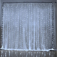 6M x 3M 600 LED Home Outdoor Holiday Christmas Decorative Wedding xmas String Fairy Curtain Garlands Strip Party Lights