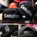 New 2016 Fashion Men Cap Black Compton Letters Embroidery Snapback Hats Hiphop Hat Baseball Cap Hip Hop Caps For Men Women Bones