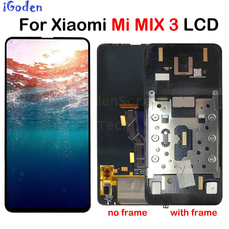 Xiaomi Mi Mix 3 LCD Display Touch Screen Digitizer Assembly With Frame Mi Mix3 LCD Replacement