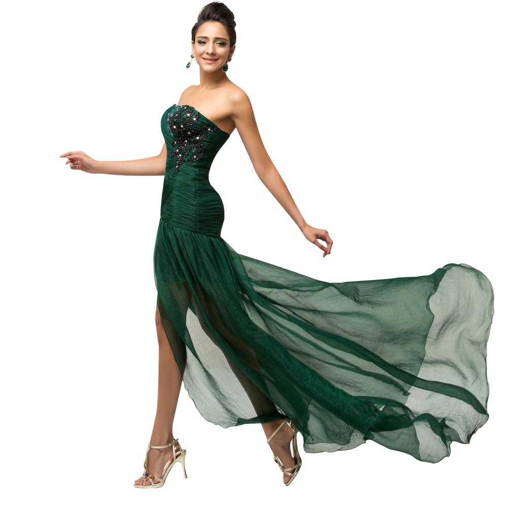 Grace Karin Elegant Long Dark Emerald Green Mermaid Prom Dresses ... 90034af245cf