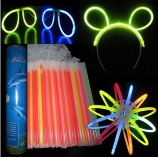 "100 pcs/lot 8"" Multi color hot glow stick, led color flashing bracelet lighting flash sticks festival item"