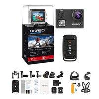 AKASO V50 4 К 30FPS WI FI Открытый Спорт Действие Камера с Els Ultra HD Водонепроницаемый видеокамера 20MP 170 градусов крайняя подводная
