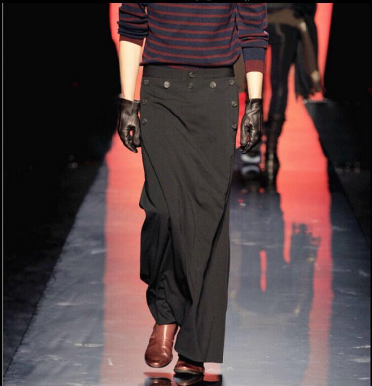 HOT 2017 spring fashion tide Catwalk culottes men casual pants harem pants nightclub clothing singer costumes