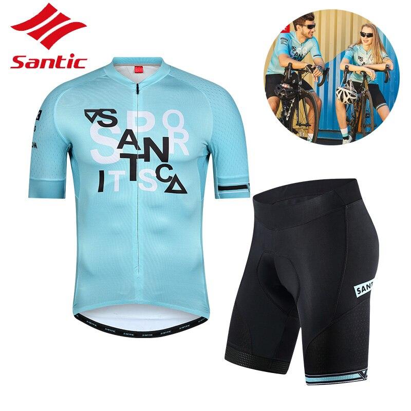 Santic vélo Jersey hommes femmes été respirant séchage rapide Anti-boulochage vélo vêtements Jersey cyclisme accessoires
