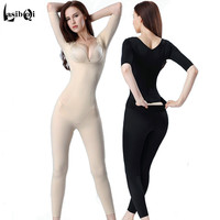 Ultra Thin Ms Breathable Seamless After Trousers One Piece Shaper Slimming Clothes Drawing Waist Abdomen Body