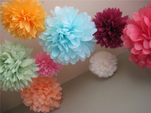 Mixed Sizes 6/8/10/12/14/16/18/20inch Decorative Flowers Tissue Paper Pompoms Hanging Wedding Birthday Baby Shower Decorations