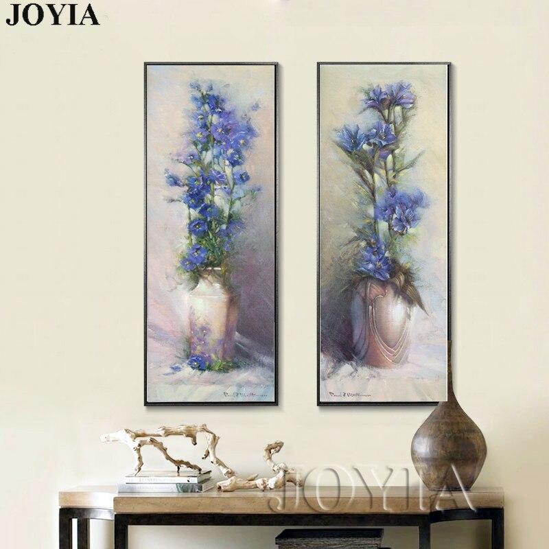 90cm große abstrakte Leinwandbilder Vintage Blumenvase Gehobene - Wohnkultur - Foto 2