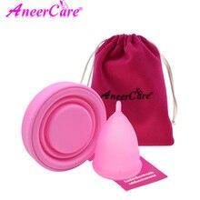 Feminine Hygiene Menstrual Cup Silicone Collector Menstrual de Medica Sterilizer Collapsible cup Recyclable Camping Cups недорого