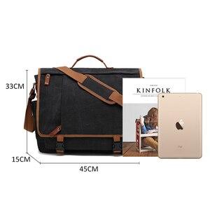Image 5 - Vintage Canvas Briefcase Men Laptop Suitcase Travel Handbag Men Business Tote Bags Male Messenger Bags Shoulder Bag 2020 XA200ZC