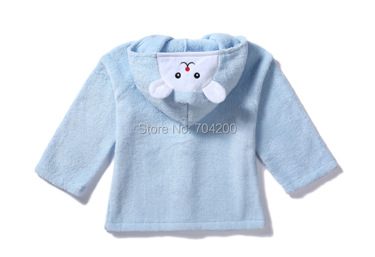 Осенне-зимняя Милая шапка с изображением кролика и медведя, детское полотенце с капюшоном, накидка, банный халат из хлопка, мягкий абсорбирующий халат для спа
