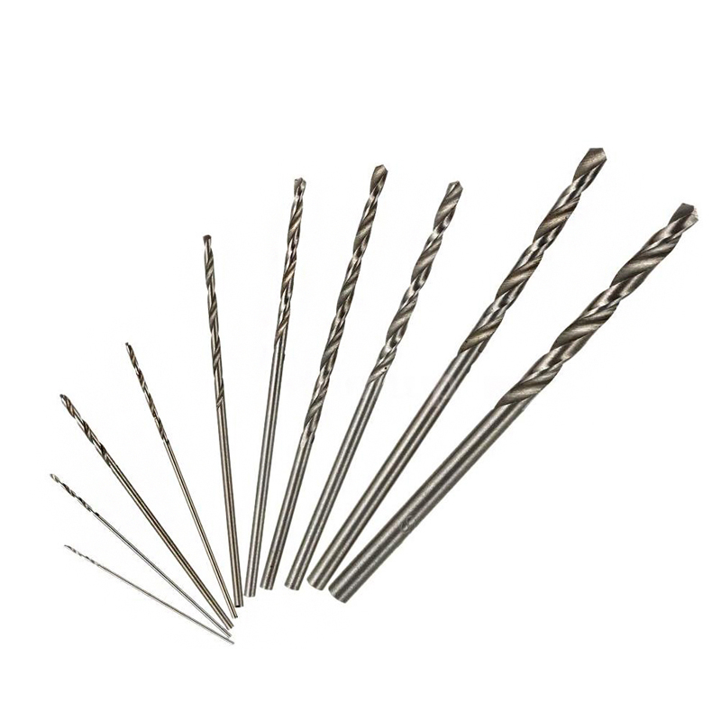 цена на 10Pcs High Speed HSS White Steel Twist Drill Bit Set For Dremel Rotary Tool -Y103