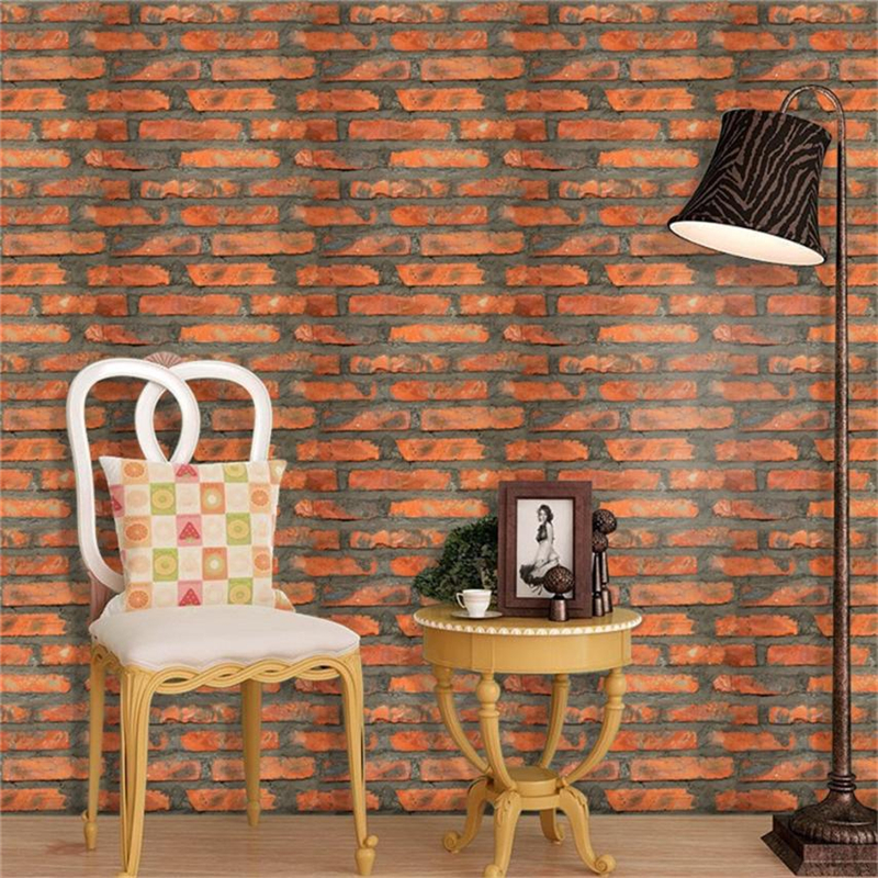 3D Wall Paper Brick Stone Effect Self-adhesive Wall Sticker Room Decor Waterproof Resist ...