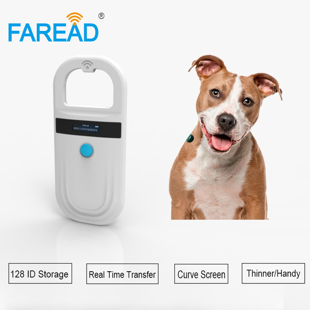 NEW RFID Handheld pet chip scanner FDX B EMID mini Light portable USB animal dog cat microchip Reader for vet pigeon ring race