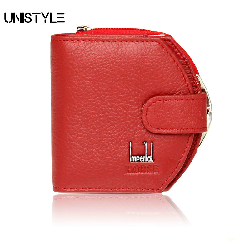 Unistyle Lovley Short Hasp Cowhide Genuine Leather Women Coin Bag Wallet Cartera Purse Female Card Wallet 2017 genuine cowhide leather brand women wallet short design lady small coin purse mini clutch cartera high quality
