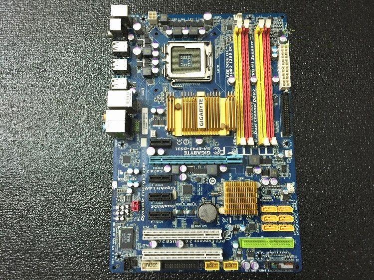 For Gigabyte GA-EP43-DS3L Original Used Desktop Motherboard EP43-UD3L P43 Socket LGA 775 DDR2 ATX On Sale