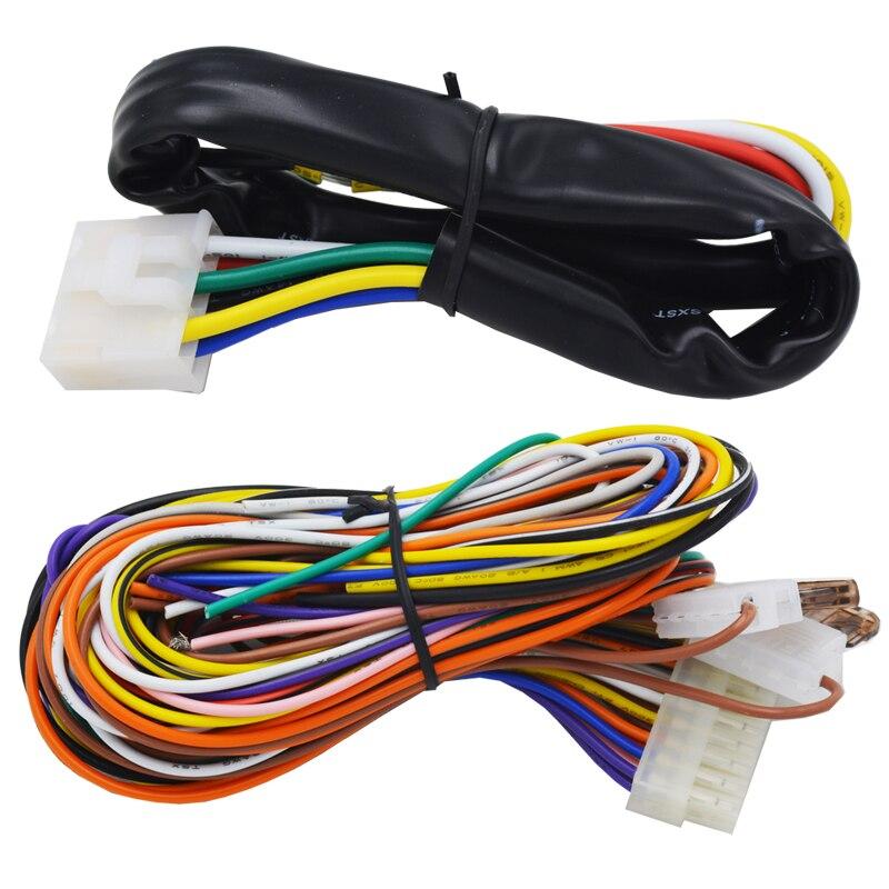 Système de sécurité de voiture intelligent verrouillage automatique sans clé passif ou déverrouillage de la porte de voiture bouton poussoir démarrage arrêt smart ani alarme de détournement - 6