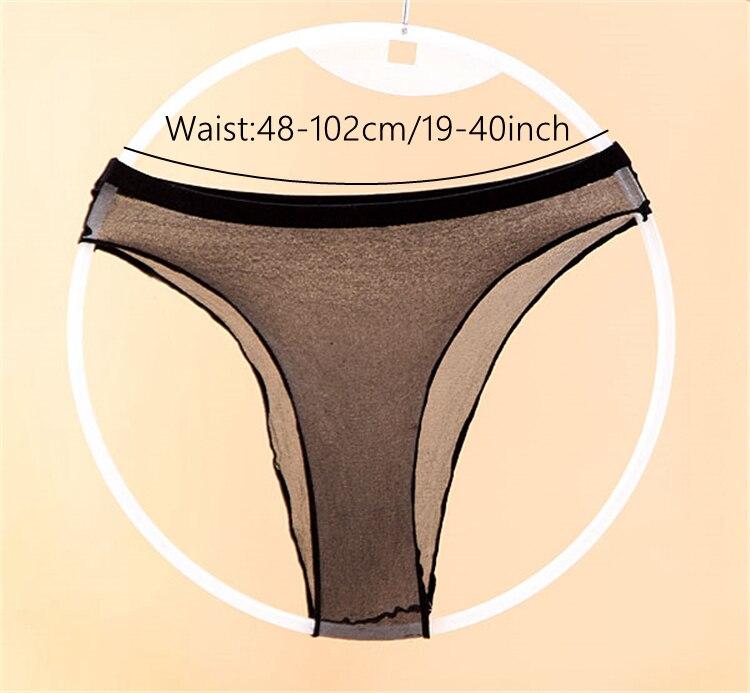 2018 New Sexy Passion Bragas Sheer See Through Socks Briefs Underwear for Women Panties Stretch 5D Transparent Underwear
