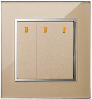 MODERN ELECTRICAL WALL SWITCH THREE GANG ONE WAY FOR HOME HOTEL