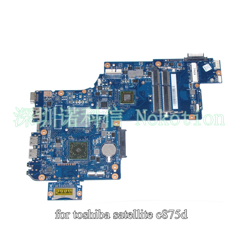 H000043600 For toshiba Satellite C875 C875D laptop motherboard 17.3 inch EM1200 AMD CPU onboard