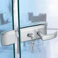 10 15mm Glass Door Lock Stainless Steel Sliding Handle Door Lock for Glass Office Bathroom Bedroom Balcony Home Security
