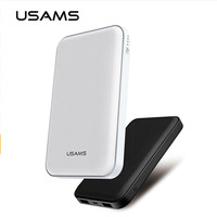 USAMS 10000mAh 5V 2 1A Dual Output Quick Charge Power Bank Micro USB External Power Supply