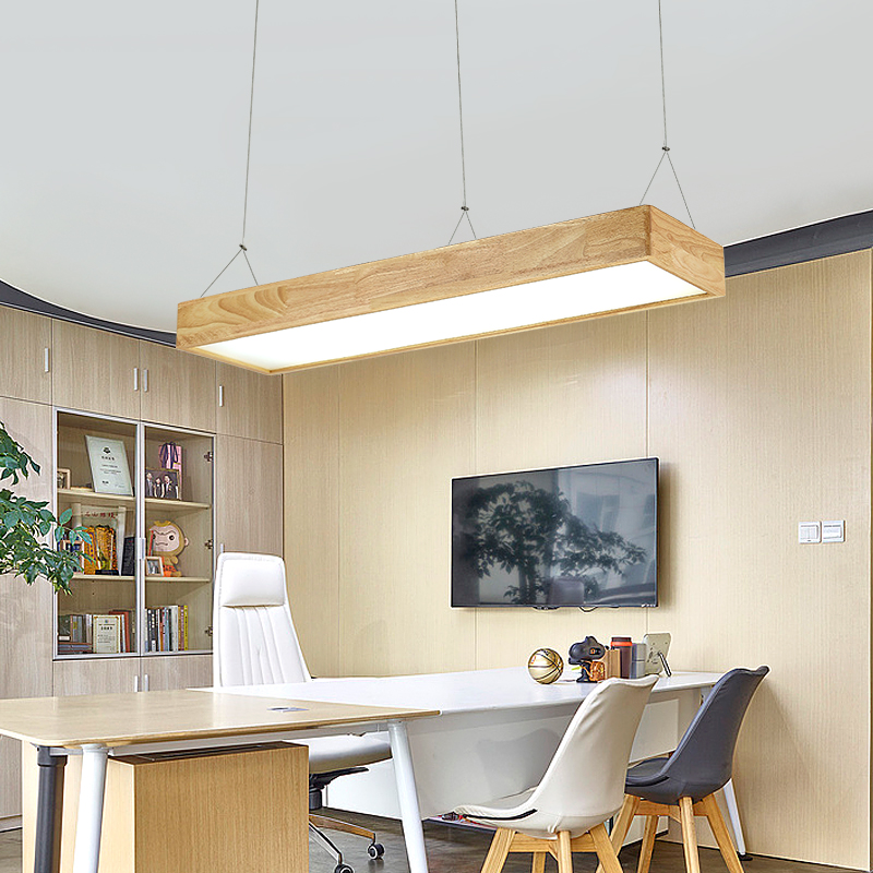 Modern Led Wood Pendant Light Suspended Wooden Lamp Living room Bedroom Dining Room Office Droplight Lighting Fixture|Pendant Lights| |  - title=