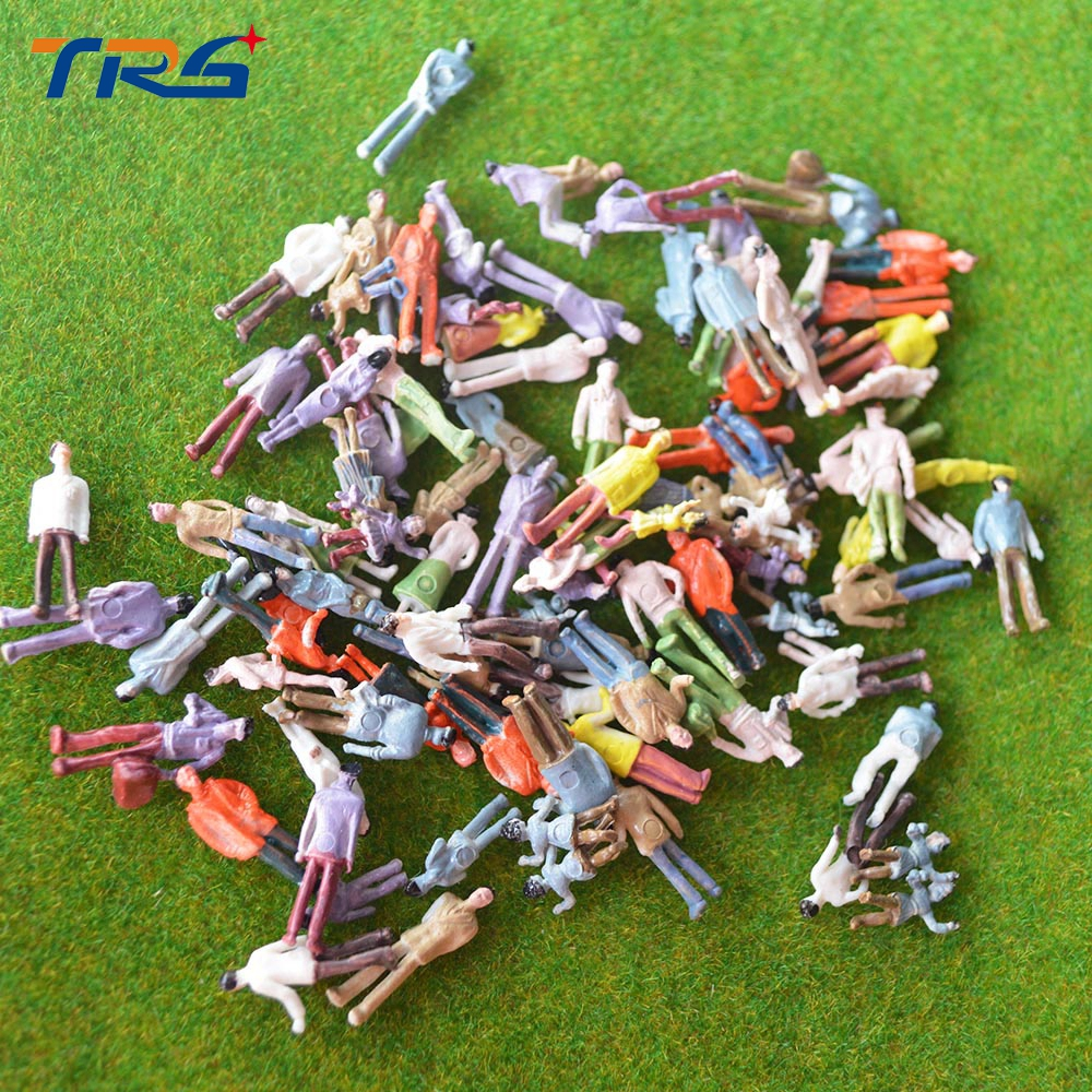 100pcs scale 1:100 Architectural scale model train layout street passengers painted figures for landscape models making