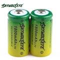 2 unids! SKYWOLFEYE 16340 CR123A LR123A Batería 3.7 V 1800 mAh de Litio del Li-Ion Recargable para Cámara Linterna de Juguete